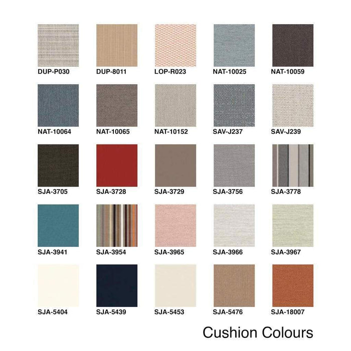 Barlow Tyrie Cushion Colour Swatches - Mid Ulster Garden Centre, Ireland