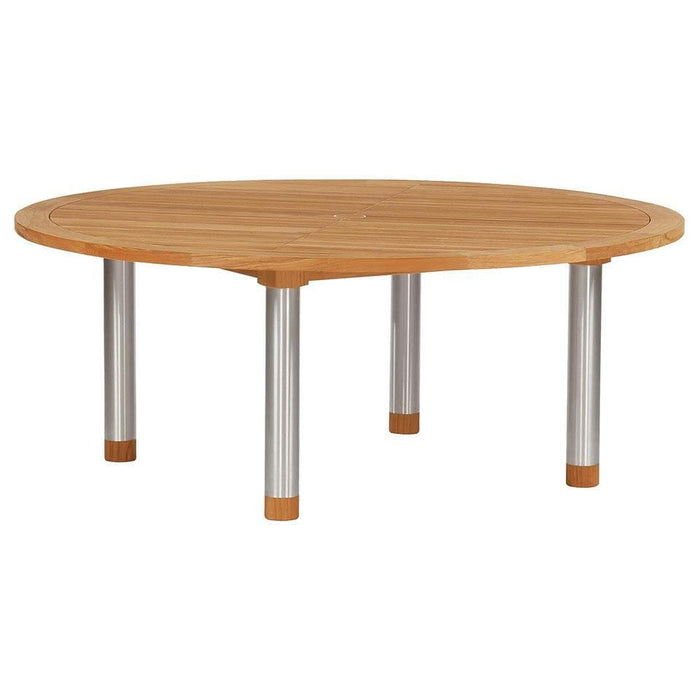 Barlow Tyrie Equinox 180 Dining Table Round with Teak Top 2EQC18S.T - Mid Ulster Garden Centre, Ireland