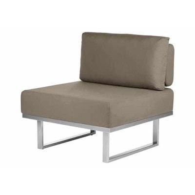 Barlow Tyrie Garden Furniture Mercury Module Deep Seating - Centre Barlow Tyrie Mercury Deep Seating Outdoor Lounging Set in SJA-3729 Taupe Fabric
