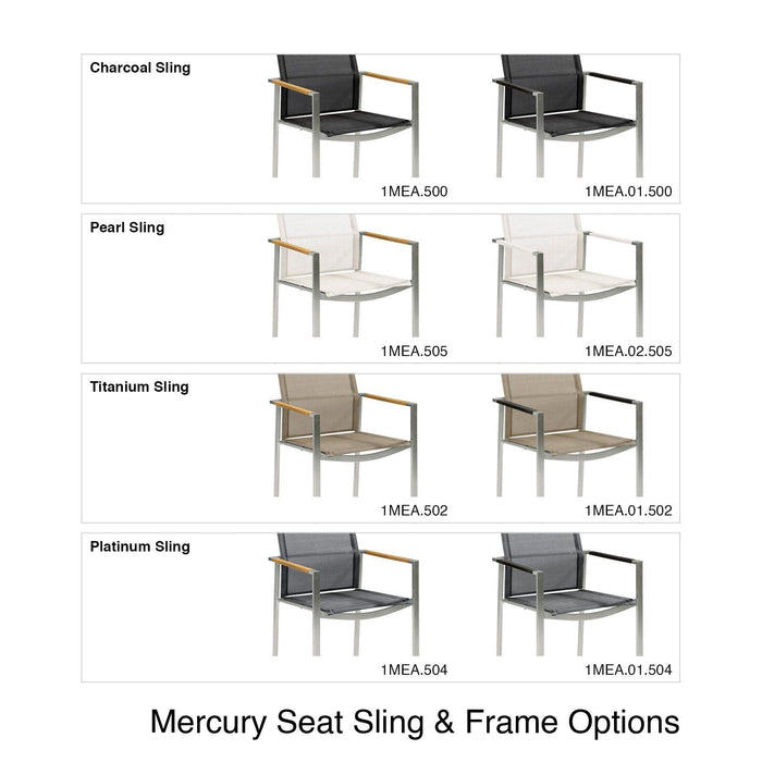 Mid Ulster Garden Centre - Barlow Tyrie Mercury Frame and Sling Chair Options