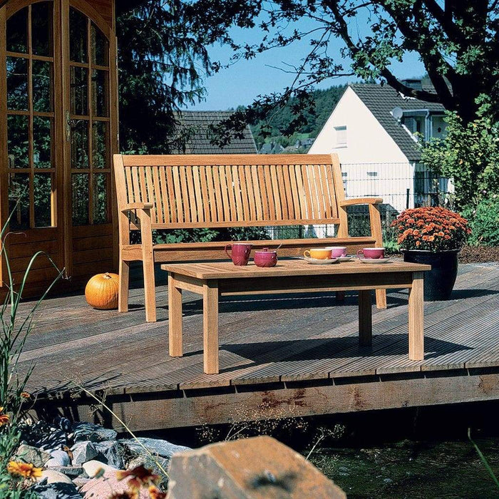 Barlow Tyrie Monaco Outdoor Wooden Bench 146cm with Table - Mid Ulster Garden Centre, Ireland