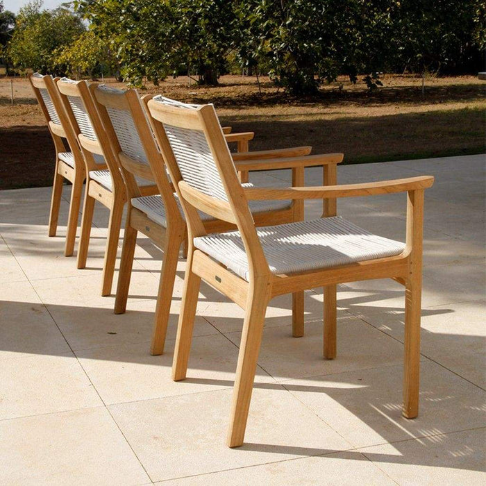 Barlow Tyrie Garden Furniture Barlow Tyrie Monterey Frost Ceramic Patio Table (300cm) and Chairs
