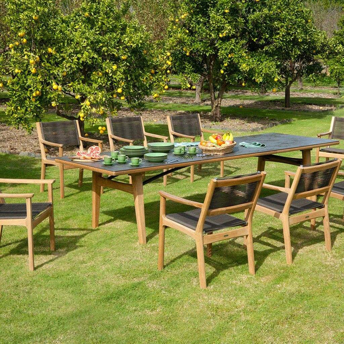 Barlow Tyrie Monterey Oxide Ceramic & Wooden Garden Table and Chairs - Mid Ulster Garden Centre, Northern Ireland