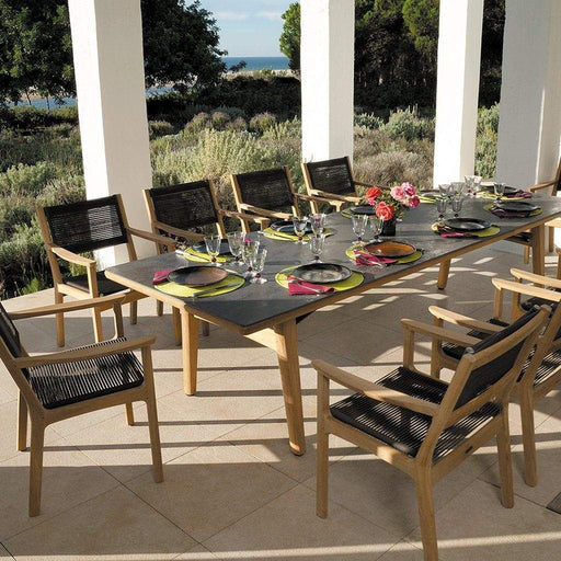 Barlow Tyrie Garden Furniture Barlow Tyrie Monterey Oxide Ceramic & Wooden Garden Table and Chairs