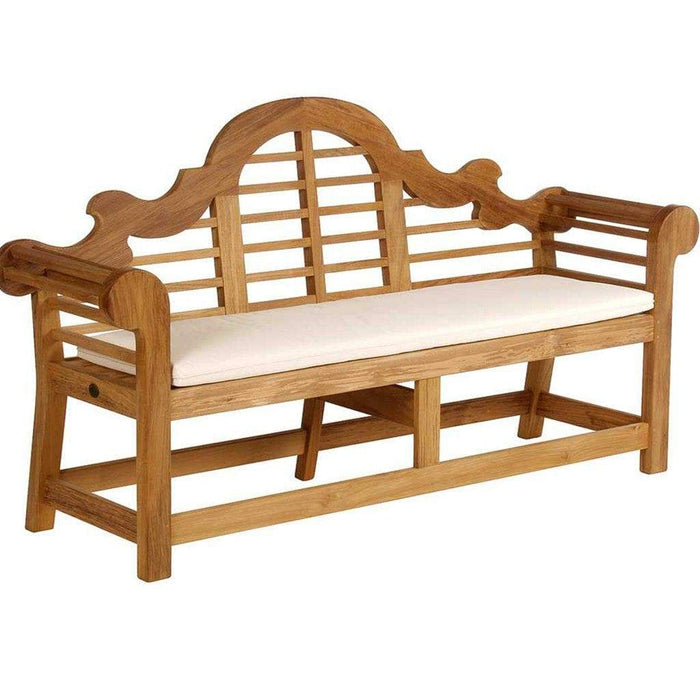 Barlow Tyrie Sissinghurst Teak Bench with Optional Cushion - Mid Ulster Garden Centre, Northern Ireland