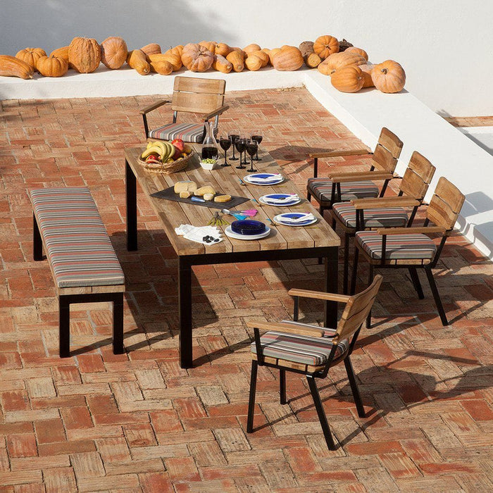 Barlow Tyrie Titan Teak 300cm Wooden Outdoor Furniture Dining Set - Mid Ulster Garden Centre, Ireland