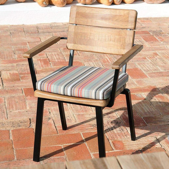 Barlow Tyrie Titan Teak Outdoor Dining Chair with Cushion- Mid Ulster Garden Centre, Northern Ireland