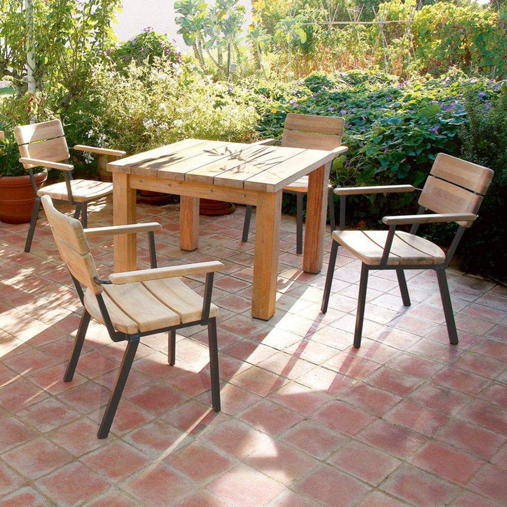 Barlow Tyrie Titan Teak Outdoor Dining 4 Seater Set - Mid Ulster Garden Centre, Northern Ireland