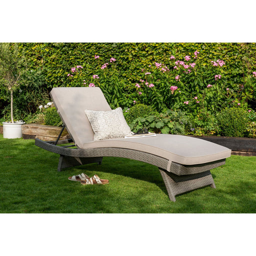 Kettler Garden Furniture Kettler Rattan Charlbury Universal Sunlounger With Cushion