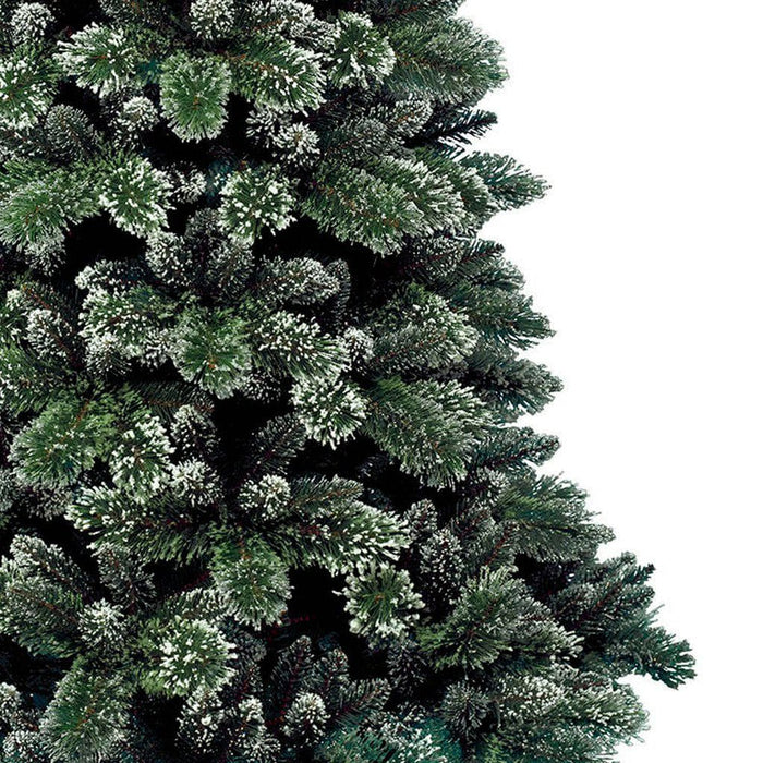 Kaemingk Everlands Frosted Finley Pine Christmas Tree 240cm / 8ft Detail - Mid Ulster Garden Centre, Ireland