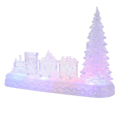 Lumineo Christmas Tree & Train Acrylic Colour-changing Light - Mid Ulster Garden Centre