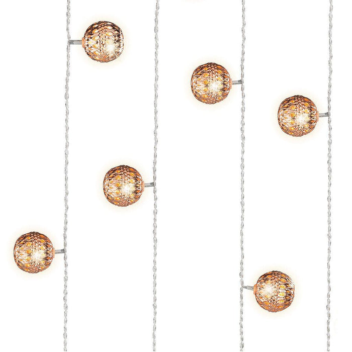 Kaemingk Lumineo Christmas lighting Lumineo LED Copper Ball Decoration Lights - Warm White (20 lights)