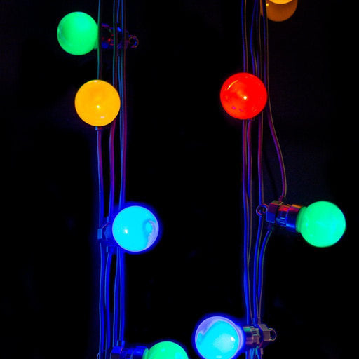 Lumineo Multi Colour Party Festoon Lights (20 LED) Extension Set - Mid Ulster Garden Centre, Ireland
