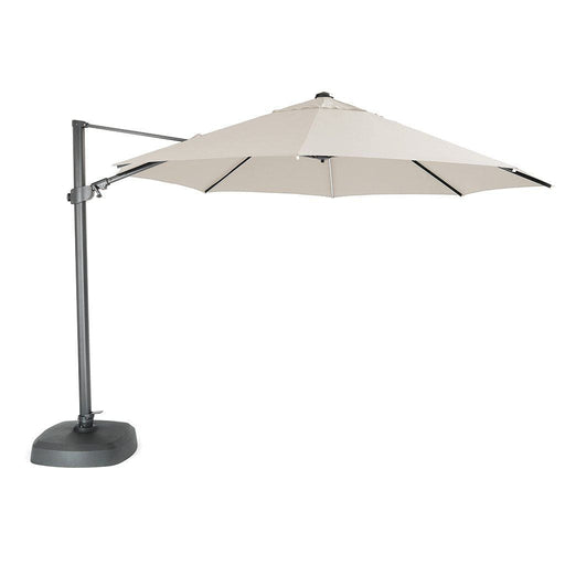 Kettler Garden Furniture Accessories Kettler 3.5m LED Free Arm Large Parasol With Bluetooth Speaker Natural