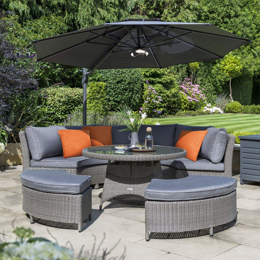 Kettler Garden Furniture Kettler Palma Casual Dining Round Table And Chairs 8 Seat Set in Rattan