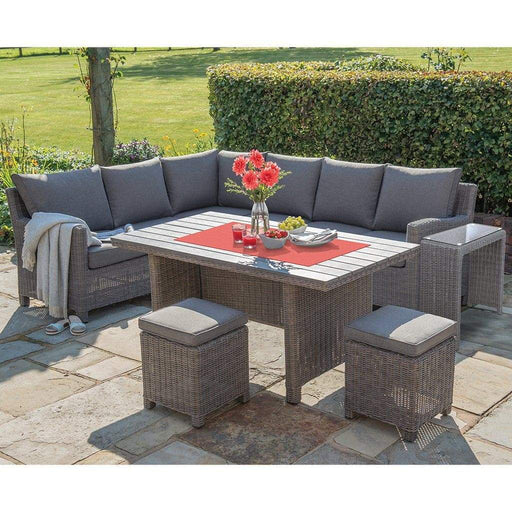 Kettler Garden Furniture Kettler Palma Right Hand Rattan Corner Garden Furniture With Slat Table