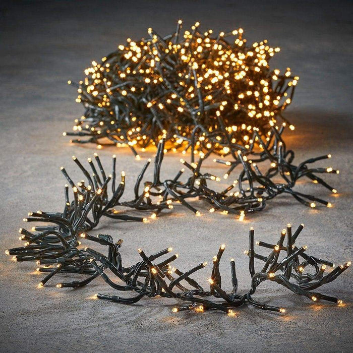 Luca Lighting Cluster Christmas Lights in Warm White with 8 Functions (2000 Lights) - Mid Ulster Garden Centre, Ireland