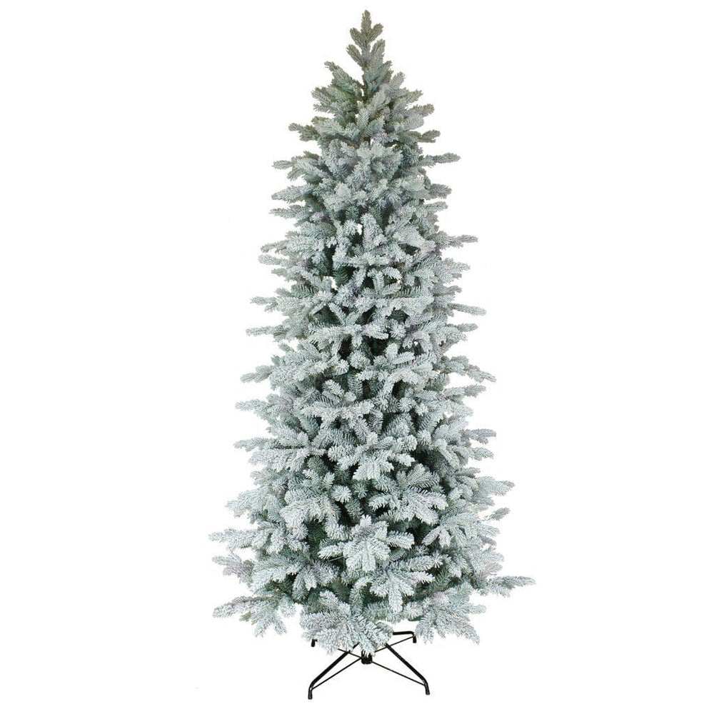 Puleo Artificial Christmas Trees Puleo Kelford Fir Flocked Slim Christmas Tree 7.5ft