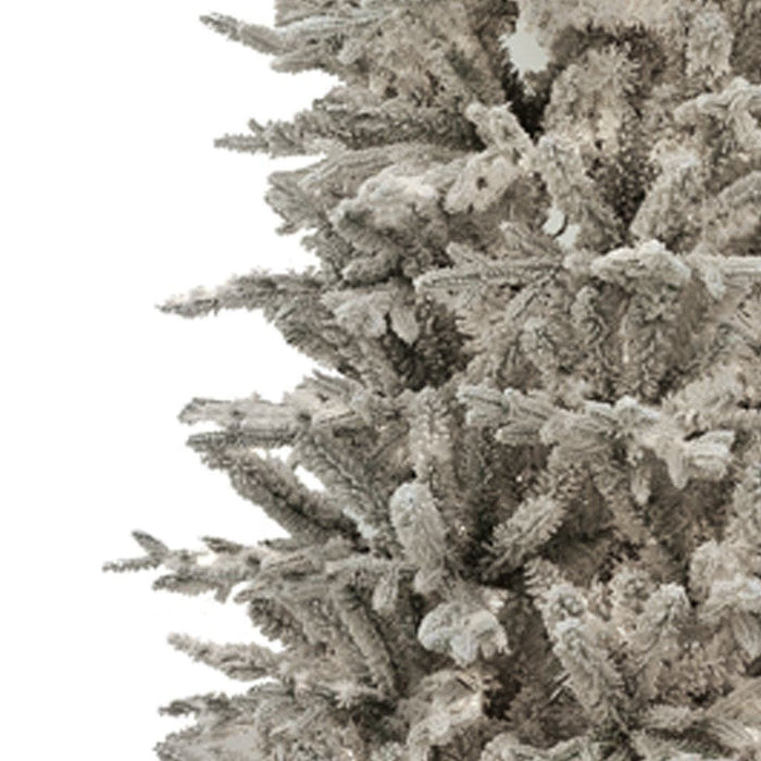 Puleo Artificial Christmas Trees Puleo Slim Northern Fir Flocked Frosted Christmas Tree 7.5ft