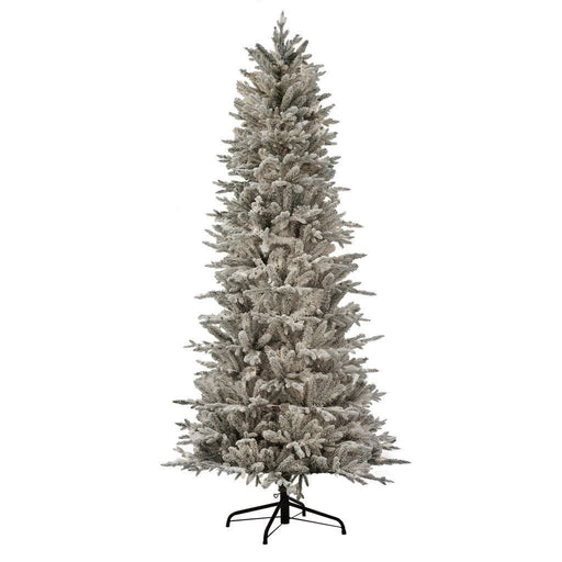 Puleo Slim Northern Fir Flocked Frosted Christmas Tree 7.5ft - Mid Ulster Garden Centre, Ireland