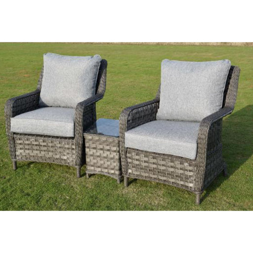 Mercer Garden Furniture Amalfi Tete-a-Tete Dark Grey Garden Set