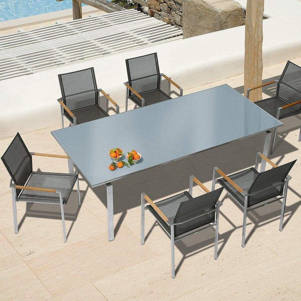 Barlow Tyrie Mercury 220 Outdoor Dining Table and 8 Seat Armchair Set - Mid Ulster Garden Centre, Northern Ireland
