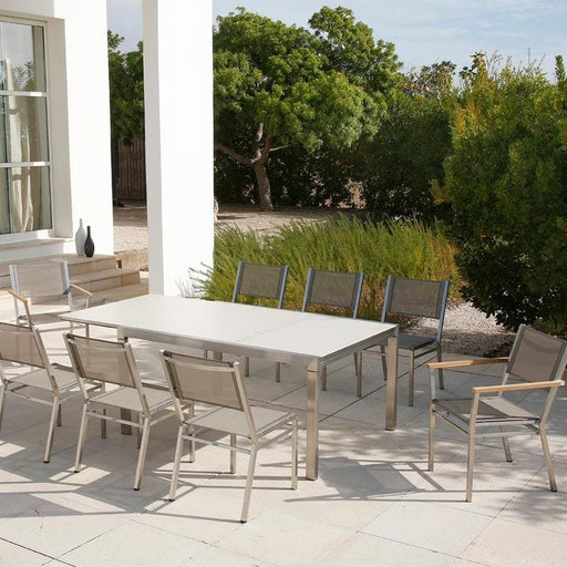Barlow Tyrie Equinox Asymmetric 210cm Extending Dining Table set - Mid Ulster Garden Centre, Ireland