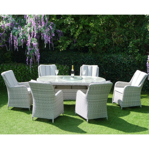 Mercer Garden Furniture Verona Oval 6 Seater Garden Dining Set