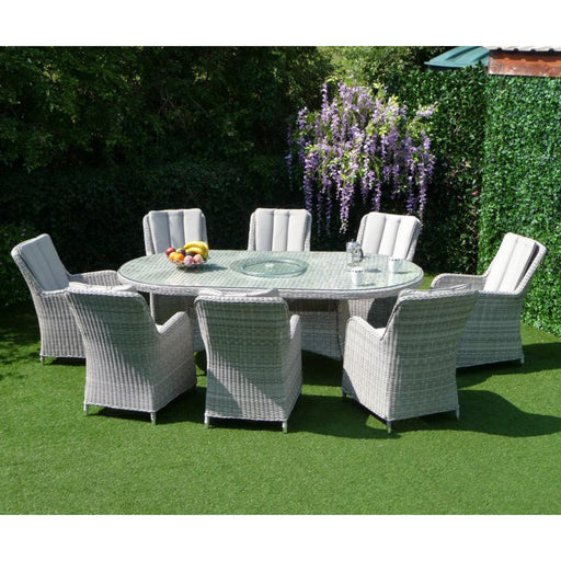Mercer Garden Furniture Verona Oval 8 Seater Garden Dining Set
