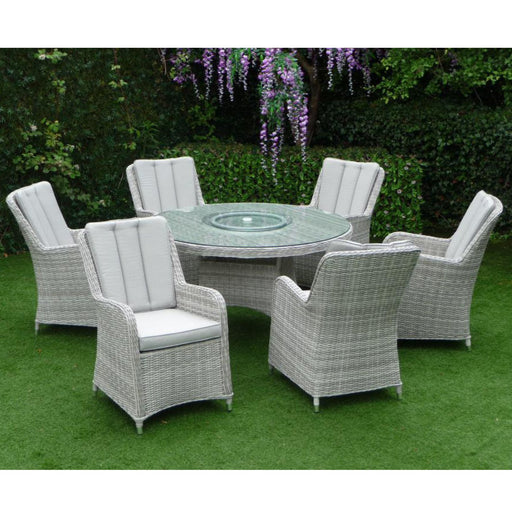 Mercer Garden Furniture Verona Round 6 Seater Garden Dining Set
