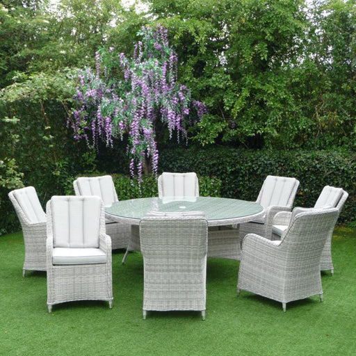 Mercer Garden Furniture Verona Round 8 Seater Garden Dining Set
