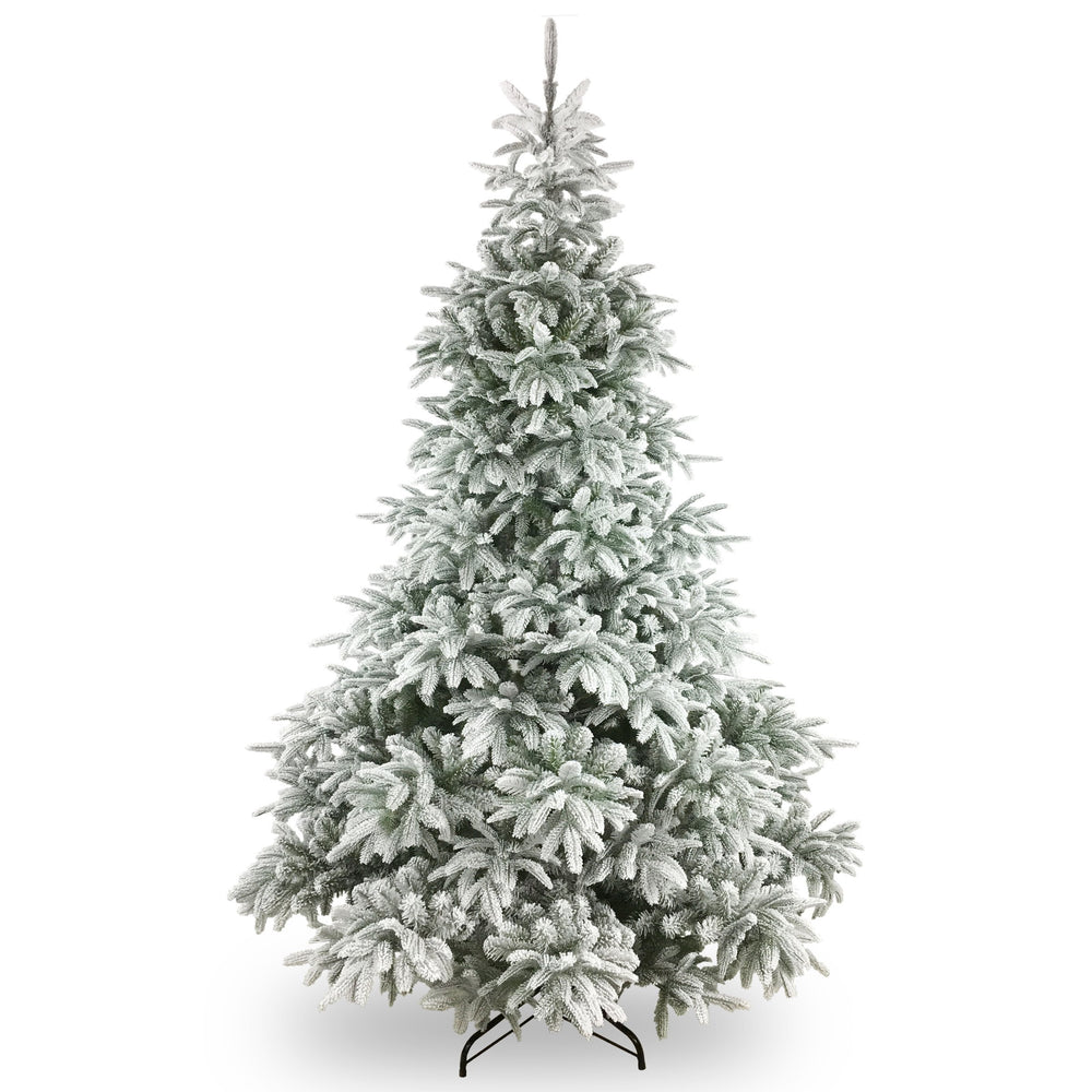 National Tree Company Feel Real Frosted Andorra Fir Hinged Tree 225cm / 7.5ft - Mid Ulster Garden Centre, Northern Ireland