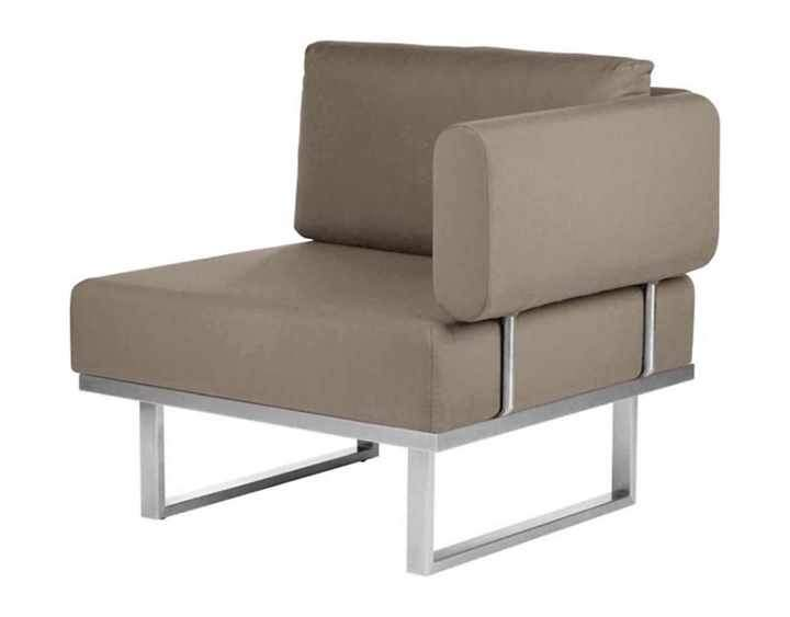 Barlow Tyrie Mercury Deep Seating Garden Lounge Set in SJA-3729 Taupe Fabric - Right Module - Mid Ulster Garden Centre, Ireland