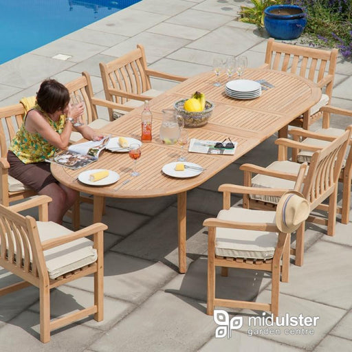 Alexander Rose Roble 8 Seat Oval Extending Set - Mid Ulster Garden Centre, Ireland