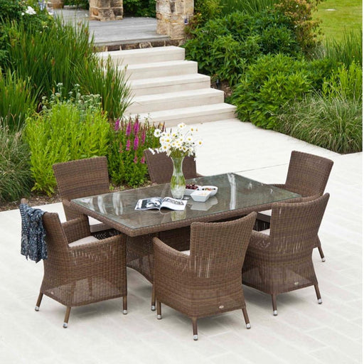 Alexander Rose Garden Furniture Alexander Rose San Marino 6-Seater Rectangular Dining Set