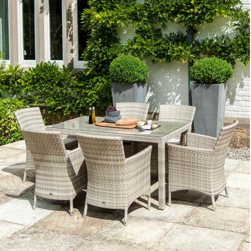 Alexander Rose Garden Furniture Alexander Rose Ocean Pearl 6-seater Rectangular Dining set