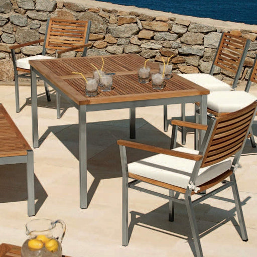 Barlow Tyrie Garden Furniture Barlow Tyrie Equinox 150cm Rectangular Outdoor Dining Table Set
