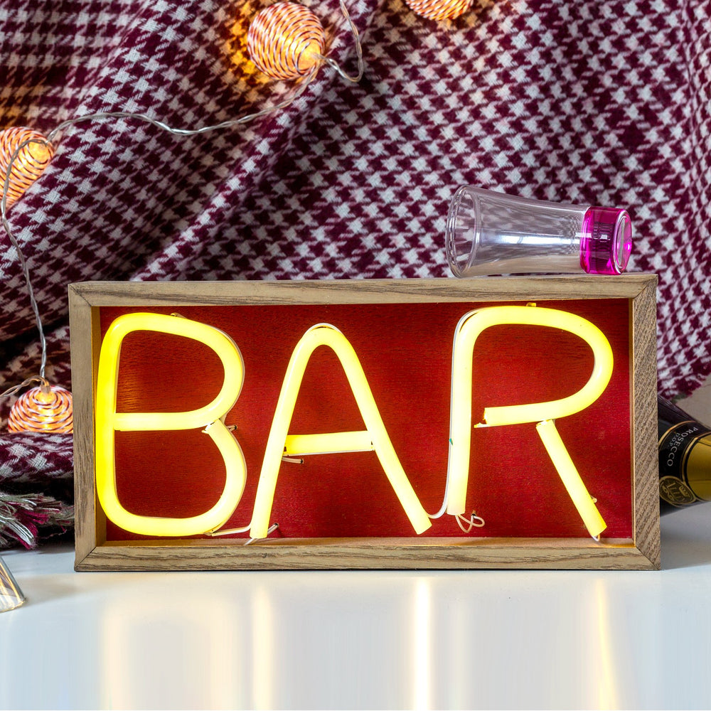 Edelman Christmas lighting Luca Lighting Bar Sign Neon Light