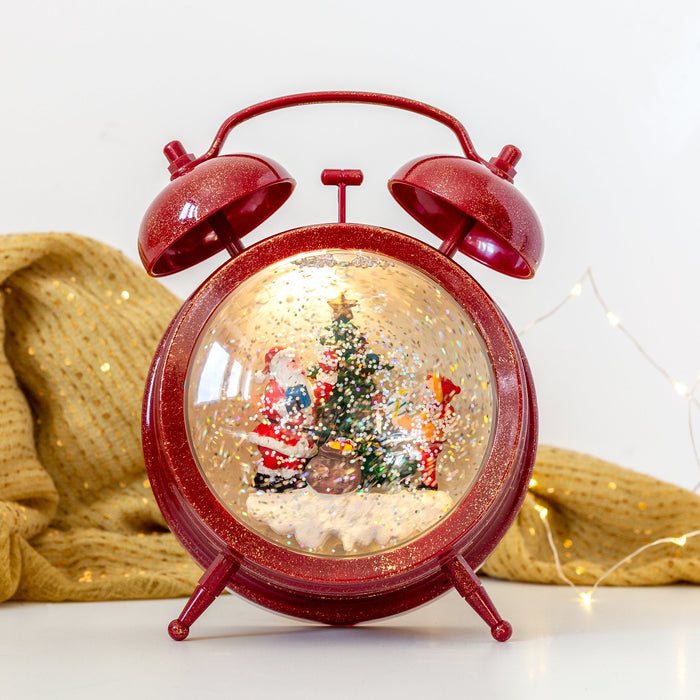 Konst Smide Christmas lighting Konstsmide Christmas LED WL Clock with Santa, Warm White