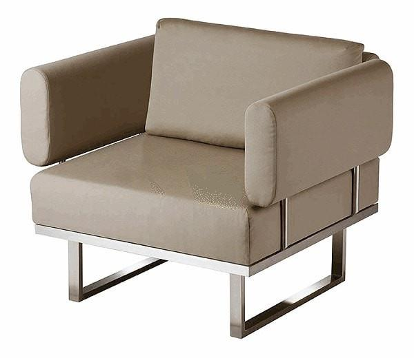 Barlow Tyrie Mercury Deep Seating in V77 Taupe Sunbrella fabric