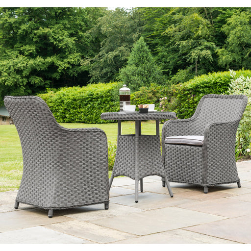 Alexander Rose Garden Furniture Alexander Rose Bespoke Grand 2 Seat Rattan Bistro Set (Grey)