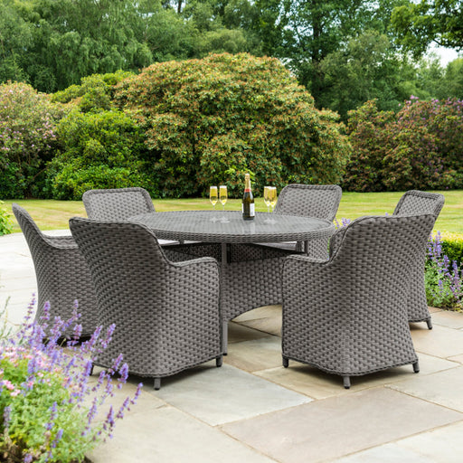 Alexander Rose Garden Furniture Alexander Rose Bespoke Grand Round Six Seater Set Grey