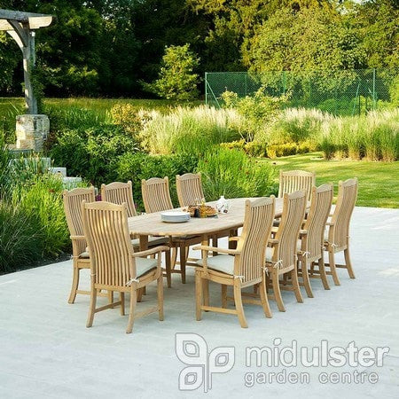 Alexander Rose Roble Double Extending Table (1.1m x 2.0m up to 2.9m) - Mid Ulster Garden Centre, Ireland