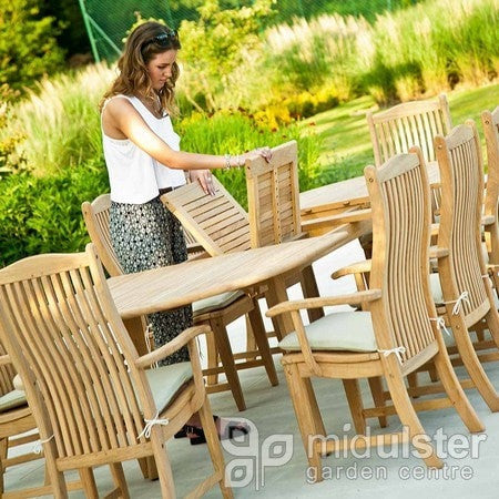 Alexander Rose Garden Furniture Alexander Rose Roble Double Extending Table (1.1m x 2.0m up to 2.9m)