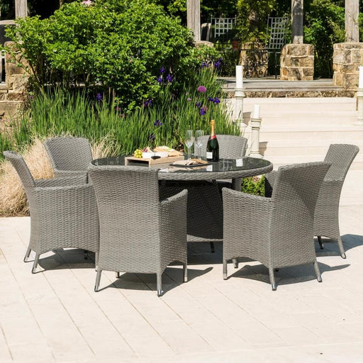 Alexander Rose Bespoke Dining Set - 6 Seats (Grey) ireland
