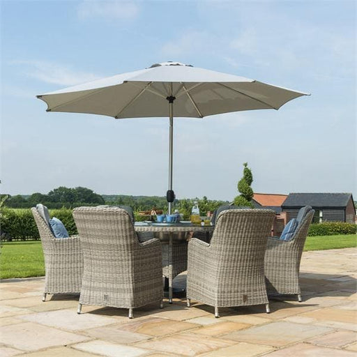 Oxford 6 Seater Round Dining Set in Dove Grey