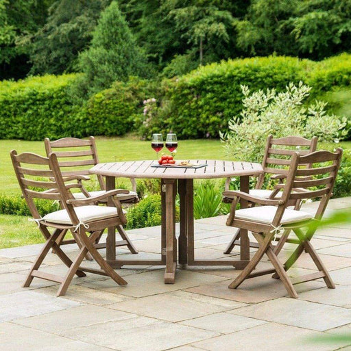 Alexander Rose Sherwood Gateleg Dining Set with 4 Folding Carvers
