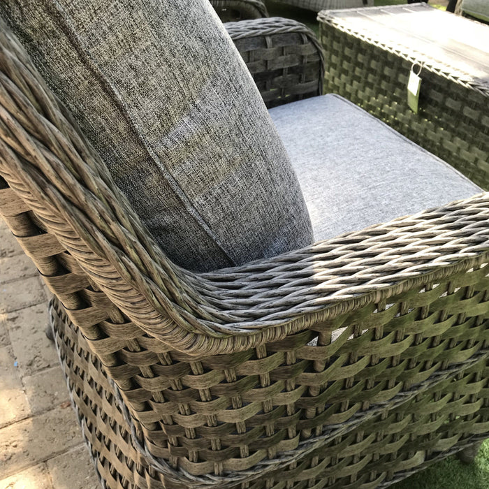 Mercer Amalfi High Back Grey Rattan Outdoor Sofa Set