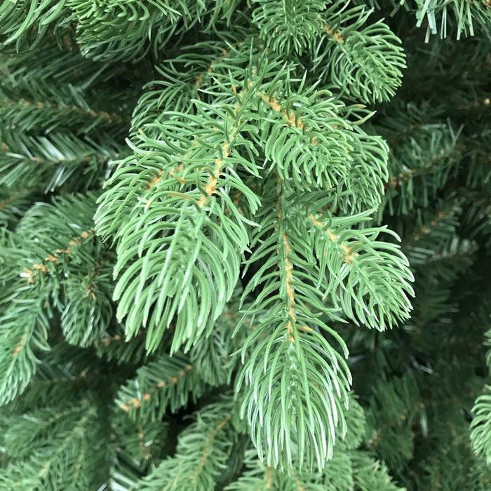 National Tree Company Feel Real Bosworth Spruce Hinged Tree 225cm / 7.5ft Tip Detail - Mid Ulster Garden Centre, Northern Ireland