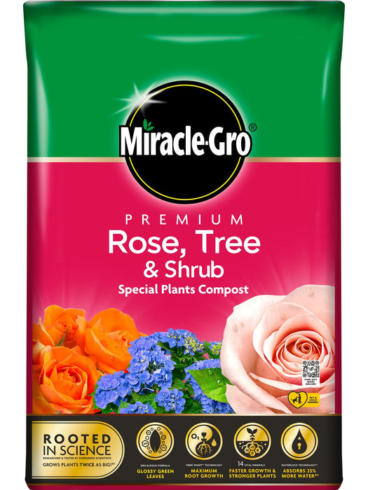 Evergreen Garden Care Garden Care Miracle-Gro Premium Rose, Tree & Shrub Compost 40 Litres